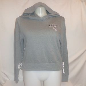 PINK L Hoodie Sweatshirt Chicago White Sox Lace Up